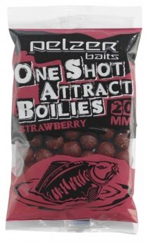 Pelzer One Shot Attract Boilies Strawberry
